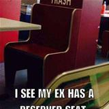 my ex has a reserved seat