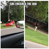 she finished the job