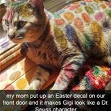 easter decal cat