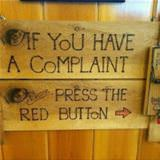 the complaint button