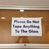 do not tape it