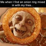 find an onion ring