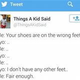 shoes are on the wrong feet