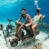 under water biking
