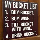 here is my bucket list