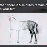 5 minutes remaining on your test