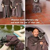 brazilian monk and his dog