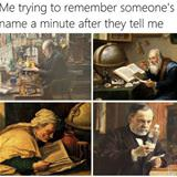 trying to remember someones name