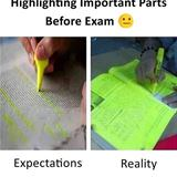 highlight the important parts