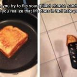 flipping your grilled cheese