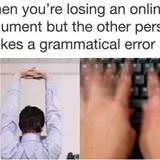 gramatical error