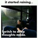 when it started raining