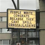 people say congrats