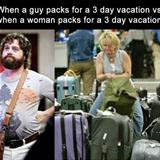 packing for 3 days of vacation