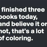 finished 3 books