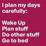 plan my days carefully