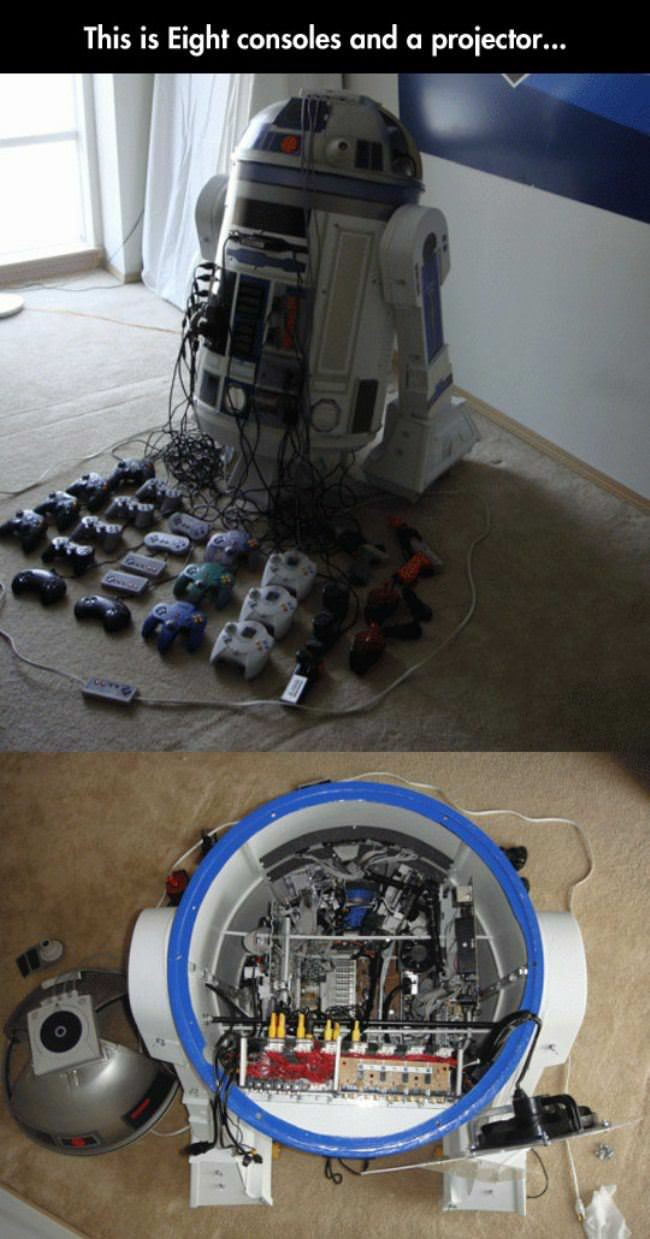 r2d2 console projector