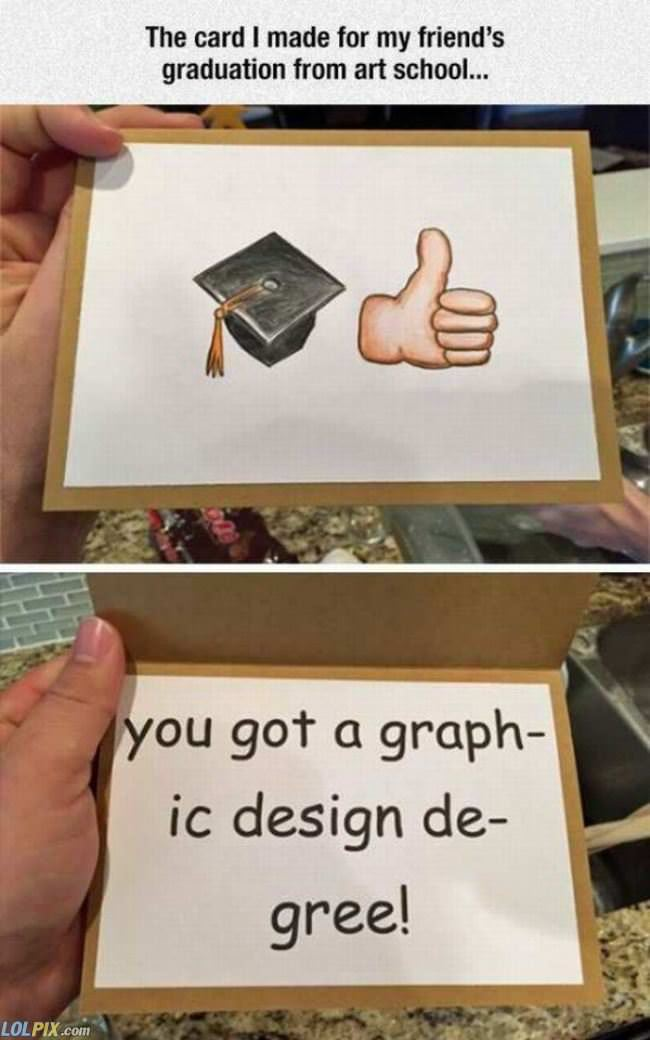 good job on your degree