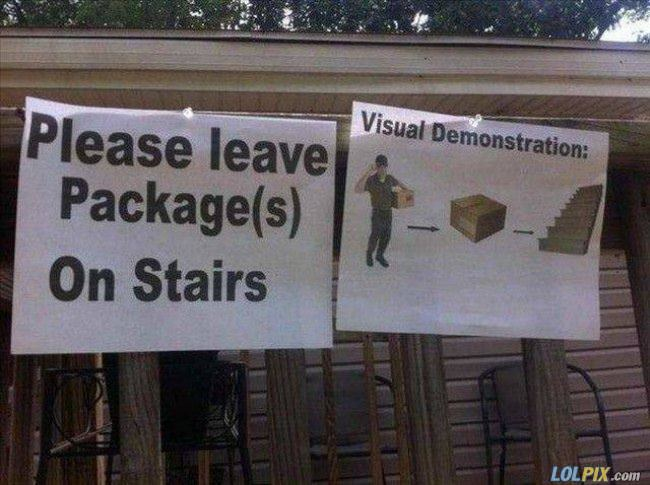 please leave packages