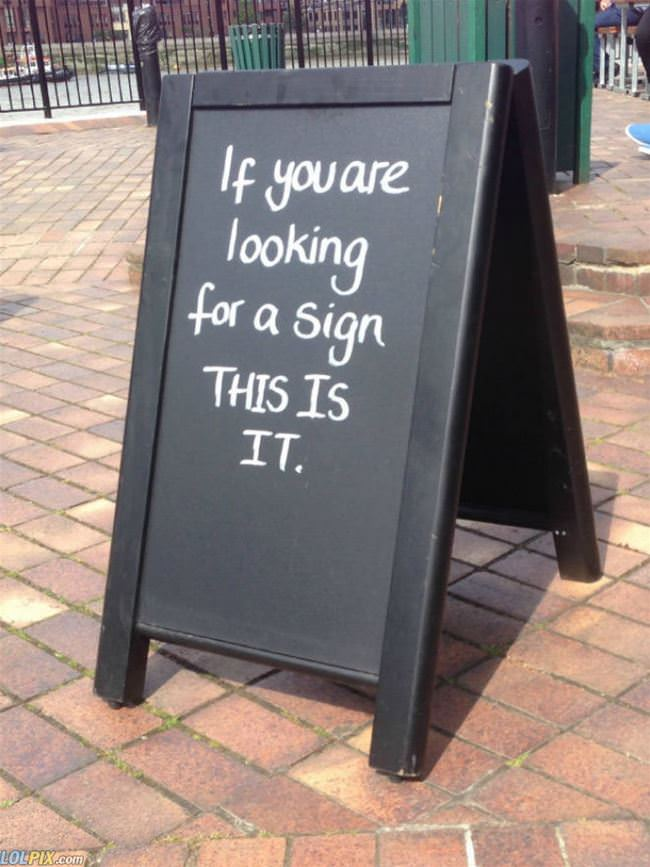 looking for a sign