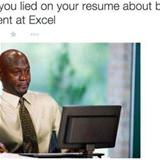 excel on resume