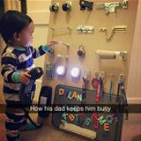 how his dad keeps him busy