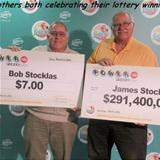 celebrating their lotto winning