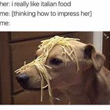 i really like italian food