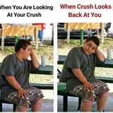 looking at your crush