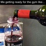 getting ready for the gym