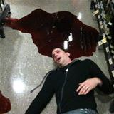 dropped a bottle of wine