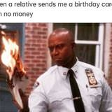 birthday card with no money