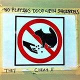 no dice with the squirrels
