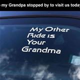 grandpa stopped over
