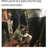 at a party