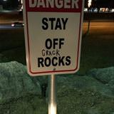 stay off the rocks