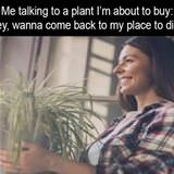 talking to a plant